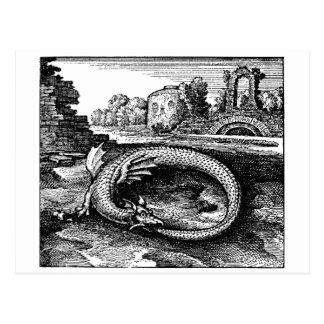 Ouroborosのドラゴンのギフト-郵便はがき ポストカード