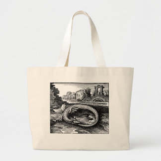 Ouroborosのドラゴンのバッグ ラージトートバッグ