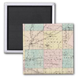 Outagamie郡、ウィスコンシンの州の地図 マグネット