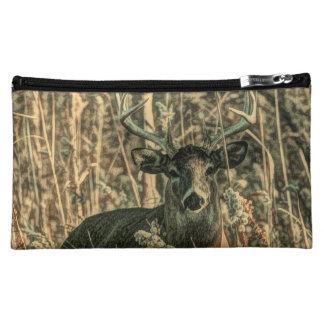 outdoorsmanの荒野のカムフラージュのオジロ鹿シカ コスメティックバッグ