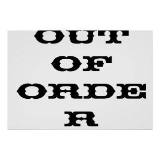 outoforder ポスター