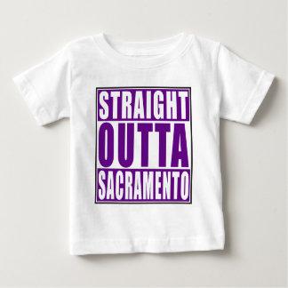 Outtaまっすぐなサクラメントの紫色 ベビーTシャツ