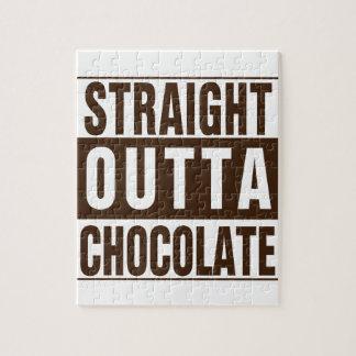 Outtaまっすぐなブラウンチョコレート ジグソーパズル