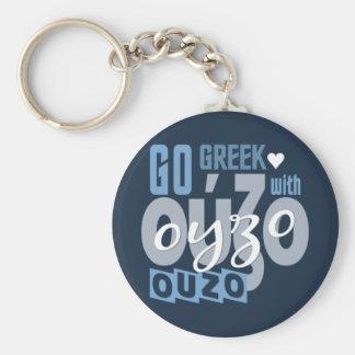 Ouzoのキーホルダー-スタイルを選んで下さい ベーシック丸型缶キーホルダー