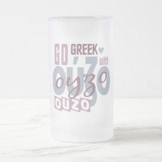 Ouzoのマグ-スタイル及び色を選んで下さい フロストグラスビールジョッキ