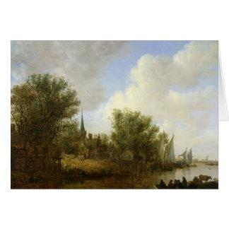 Overschie 1651年の意見の川場面 カード