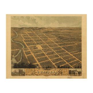 Owatonna、Steele郡、ミネソタ(1870年) ウッドウォールアート