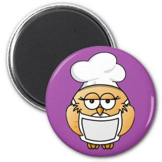 Owl Chef女性磁石 マグネット
