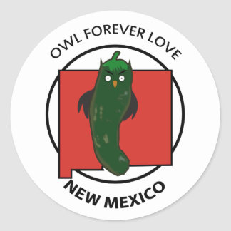 OWL FOREVER LOVE NEW MEXICO stickers ラウンドシール