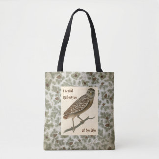 Owl Pine Cones Boughs Trees Skull Tote トートバッグ