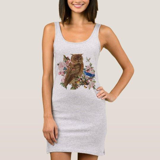 Owl Spirit Animal Tank Dress 袖なしドレス