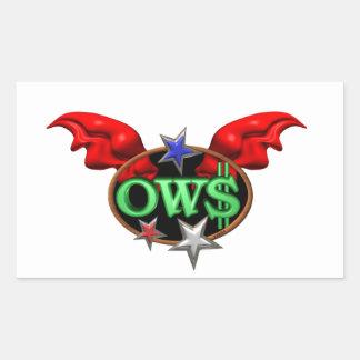 OWS操作ウォールストリートは動きを結合します 長方形シール