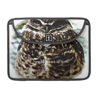Owwl Iはですフクロウのmacbookの袖を掘り進んでいるほしいです MacBook Proスリーブ