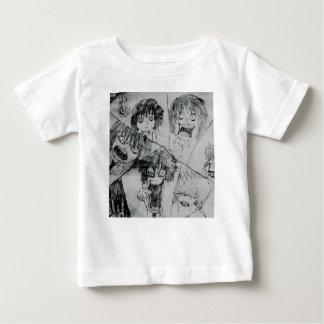 oyamadaのマンタのさまざまなshama王の表情 ベビーTシャツ