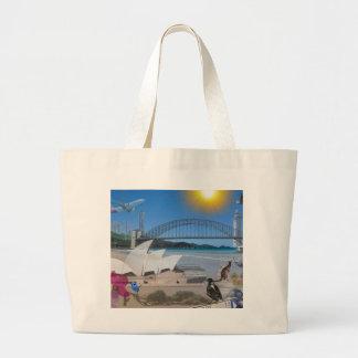 OZブリスベーンの反射はシドニーに会います ラージトートバッグ