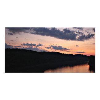 Ozarksの写真カードOsage川の湖 カード