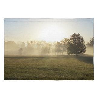Ozarksの朝の霧 ランチョンマット