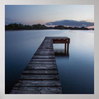 Ozarks湖およびボート波止場 ポスター