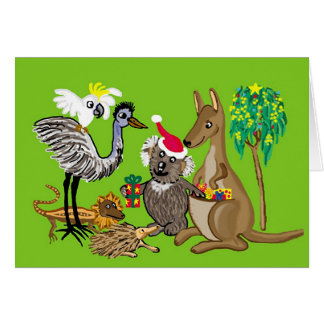 Ozzieのbearyクリスマスを持って下さい カード