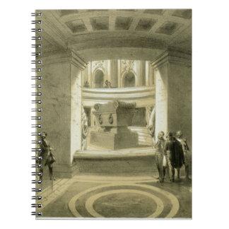 「PからのInvalidesのナポレオン(1769-1821年)の墓、 ノートブック