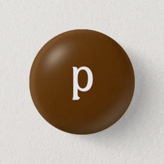 Pのモノグラムボタン 3.2CM 丸型バッジ