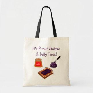 Pナットのバター及びゼリーの時間トート トートバッグ