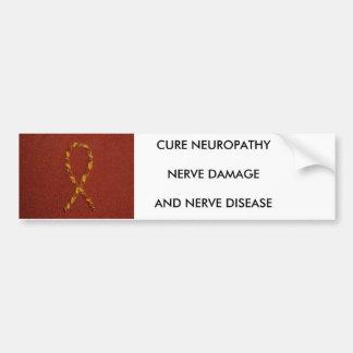 P1000070の治療NEUROPATHYNERVE DAMAGEANDの神経… バンパーステッカー