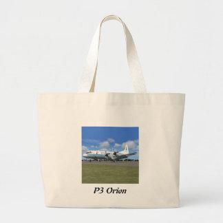 P3オリオンNOAAの天候の飛行機 ラージトートバッグ