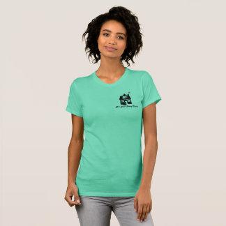 P3ペット着席サービス72marketingティール(緑がかった色)のワイシャツ Tシャツ