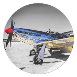 P51CのムスタングWWIIの戦闘機 プレート
