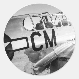 P51CのムスタングWWIIの戦闘機 ラウンドシール