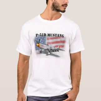 P51Dの第二次世界大戦のムスタング Tシャツ