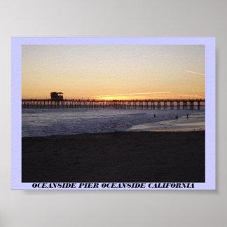 P5230010のオーシャンサイド桟橋のオーシャンサイドカリフォルニア ポスター