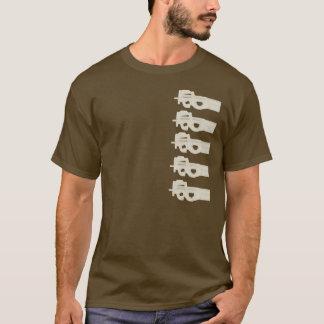 P90は=メロン-タンのグラフィック--を裂きました Tシャツ
