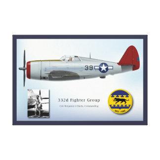 P-47Dの落雷およびベンジャーミンO.デービス キャンバスプリント