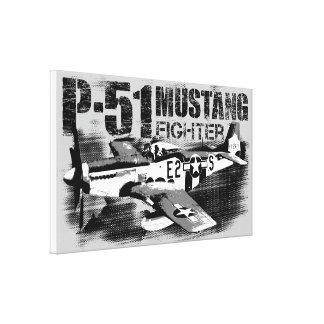 P-51ムスタングのキャンバスプリント キャンバスプリント