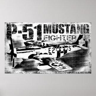 P-51ムスタングのプリント ポスター