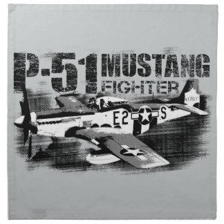 P-51ムスタングの布のナプキン ナプキンクロス