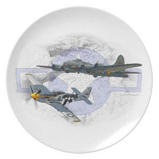 P-51ムスタングの飛んでいるな護衛 プレート