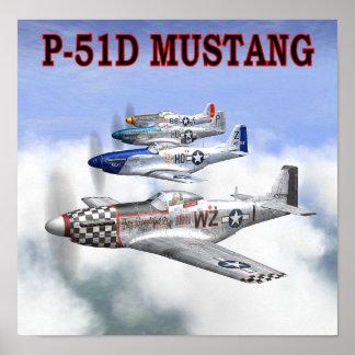 P-51ムスタング飛行ポスター ポスター