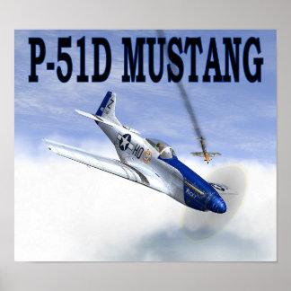 P-51対BF109ポスター ポスター