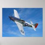 "P-51D ""強大な"" Cripes A ポスター"