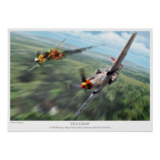 P-51D Mustang ポスター