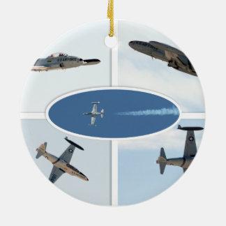 P-80流星5の飛行機セット セラミックオーナメント