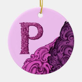 P - Falckのアルファベット(ピンク) セラミックオーナメント
