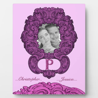 P - Falckのアルファベット(ピンク) (結婚式) フォトプラーク