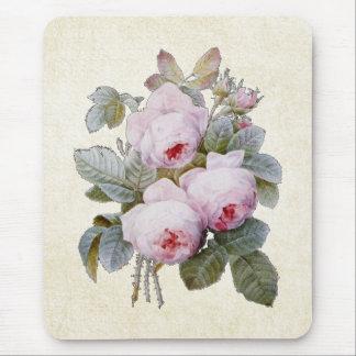 P.J. Redouteブルボンのばら色の花束 マウスパッド