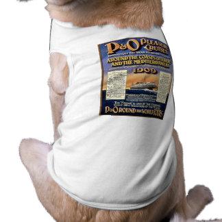 P&Oの喜びの巡航-ヴィンテージ旅行ポスター 犬用袖なしタンクトップ