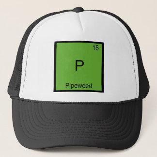 P - Pipeweedおもしろいな化学要素の記号のティー キャップ
