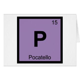 P - Pocatello都市アイダホ化学周期表 カード